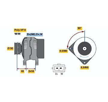 generátor BOSCH 0 986 048 950