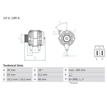 generátor BOSCH 0 986 084 150