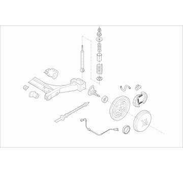 Zavěżení kola LEMFÖRDER VW-GOLF-RL015