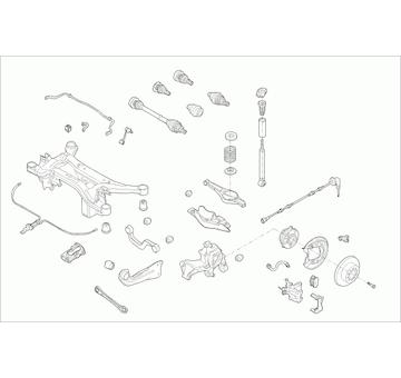 Zavěżení kola LEMFÖRDER VW-GOLF-RL041