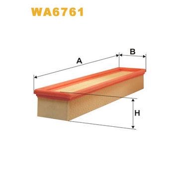 Vzduchový filtr WIX FILTERS WA6761