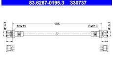 Brzdová hadice ATE 83.6267-0195.3
