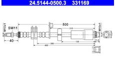 Brzdová hadice ATE 24.5144-0500.3