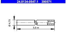 Brzdové potrubí ATE 24.8134-0547.1