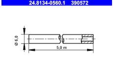 Brzdové potrubí ATE 24.8134-0560.1