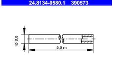 Brzdové potrubí ATE 24.8134-0580.1