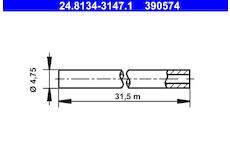Brzdové potrubí ATE 24.8134-3147.1