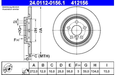 Brzdový kotouč ATE 24.0112-0156.1