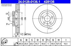Brzdový kotouč ATE 24.0128-0136.1