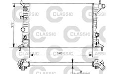 Chladič, chlazení motoru VALEO 231393