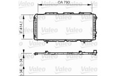 Chladič, chlazení motoru VALEO 731611