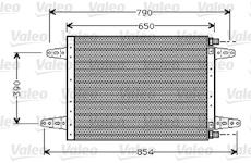 Kondenzátor, klimatizace VALEO 818045