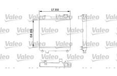 Chladič, chlazení motoru VALEO 883053