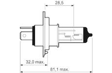 žárovka 12V/H4 60/55W P43t-38 VALEO