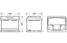 startovací baterie EXIDE EA472