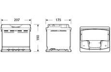 startovací baterie EXIDE EA530
