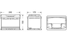 startovací baterie EXIDE EA640