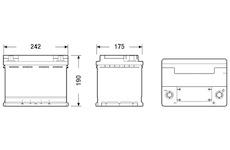 startovací baterie EXIDE EK600