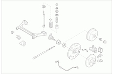 Zavěżení kola SACHS VW-GOLF-RS001