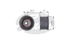 Vratna/vodici kladka, ozubeny remen GATES T42086