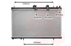 Chladič, chlazení motoru VAN WEZEL 09002229