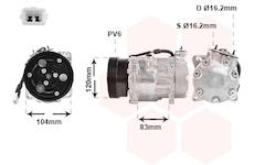 Kompresor, klimatizace VAN WEZEL 0900K175