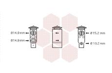 Expanzní ventil, klimatizace VAN WEZEL 17001306