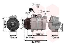 Kompresor, klimatizace VAN WEZEL 3000K277