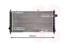 Chladič, chlazení motoru VAN WEZEL 37002050