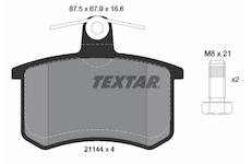 Sada brzdových destiček, kotoučová brzda - Textar 2114401