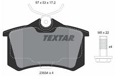 Sada brzdových destiček, kotoučová brzda - Textar 2355402