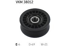 Vratna/vodici kladka, klinovy zebrovy remen SKF VKM 38012