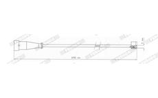 indikátor opotřebení brzdového obložení desek FERODO FAI115 IVECO Daily 2 kusy 295mm