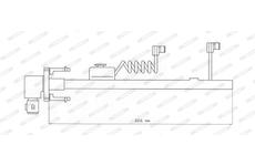 Indikátor opotřebení-kabely k brzd. destičkám FAI116 C-B