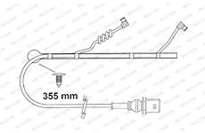 indikátor opotřebení 355mm brzdových destiček FAI163 FERODO Crossway, Citelis, Iliade, Axer