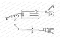 indikátor opotřebení brzdového obložení desek FERODO FAI168 380mm