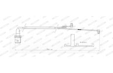 indikátor opotřebení brzdového obložení desek FERODO Meritor D-ELSA 2 CROSSWAY 390mm