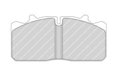 deska brzdová 29088 FERODO FCV1279 MAN L2000,DAF 45 LF,RENAULT Midlum