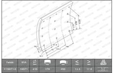 obložení brzdové FERODO K19071.0 F2020 náprava Meritor