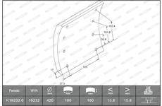 obložení brzdové 180x16x201,5 PANAV V K19232.0