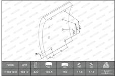 Obložení brzdové 150x18x201.5 FER.2020