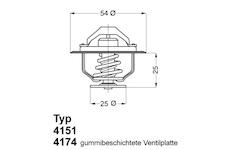 Termostat, chladivo WAHLER 4174.88D