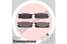 Sada brzdových destiček, kotoučová brzda ZIMMERMANN 23876.130.1