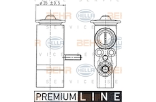 Expanzní ventil, klimatizace BEHR HELLA SERVICE 8UW 351 239-021