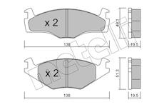 Sada brzdových destiček, kotoučová brzda METELLI 22-0045-1