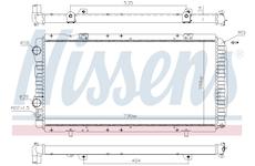 Chladič, chlazení motoru NISSENS 61390