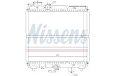 Chladič, chlazení motoru NISSENS 61810