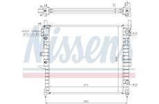 Chladič, chlazení motoru NISSENS 62787A