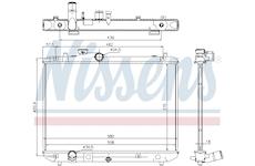 Chladič, chlazení motoru NISSENS 69400