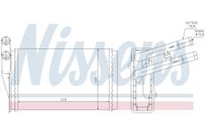 Vymenik tepla, Vnitrni vytapeni NISSENS 70221